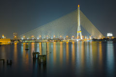 Rama VIII Bridge Bsngkok Thailand Royalty Free Stock Photos