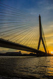 The Rama VIII Bridge is a cable-stayed bridge crossing the Chao Royalty Free Stock Photos