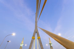 Rama VIII Bridge in the evening Royalty Free Stock Photography
