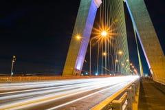 Rama VIII Bridge. At Night Bangkok Thailand Royalty Free Stock Images