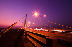 The Rama VIII Bridge, one of Thailand most famous bridges, spann Royalty Free Stock Photos