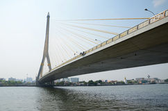 Rama VIII bridge over the Chao Praya river in Bangkok, Thailand. Stock Photography