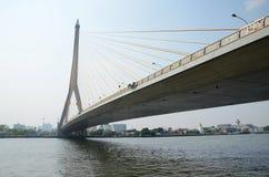 Rama VIII bridge over the Chao Praya river in Bangkok, Thailand. Stock Photography