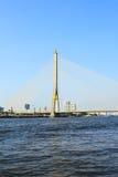 The Rama VIII bridge over the Chao Praya river Stock Image