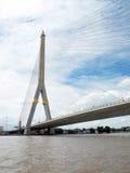 The Rama VIII bridge over the Chao Praya river Royalty Free Stock Photography