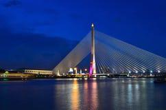 Rama VIII Bridge. And River Stock Photography