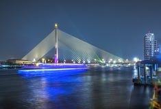 Rama VIII Bridge. Shoot From Chao Phraya royalty free stock photography
