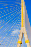 Rama VIII Bridge, Suspension bridge in Bangkok Stock Photography