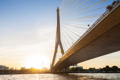 Rama VIII Bridge of Thailand. Rama VIII Bridge modern bridge and beauty of Thailand Stock Image
