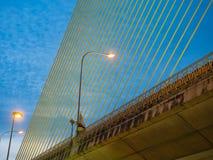 The Rama VIII Cable Bridge. At Bangkok,Thailand Stock Photo