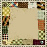 Rama w patchworku stylu Obraz Royalty Free