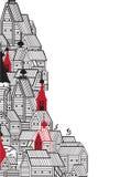 Rama w postaci starych budynków Obraz Royalty Free