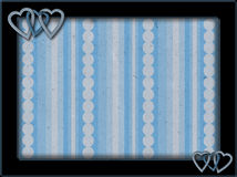 Rama z błękitnym tłem i sercami Obrazy Royalty Free