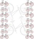 Rama z bicyklami Obraz Royalty Free