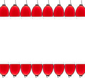 Rama z czerwonych win szkłami Fotografia Royalty Free