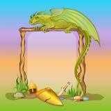 Rama z hełmem, kordzikiem i osłoną smoka, Obrazy Royalty Free