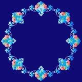 Rama z kwiatami Osmańska sztuki jeden wersja Zdjęcia Stock