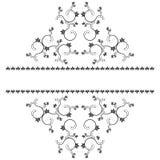 Rama z monogramami dla projekta i dekoruje. Obrazy Stock