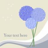 Rama z pięknymi kwiatami Obraz Royalty Free