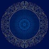 Rama z roczników kwiecistymi wzorami Ilustracji