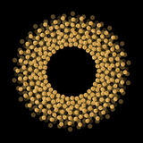 Rama z round elementami z miejscem dla twój teksta Obrazy Stock