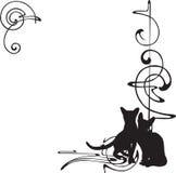 Rama z wzorem i kotami Zdjęcie Stock