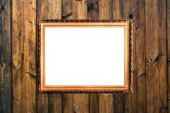 rama zaszaluje drewnianego małego rocznika Zdjęcia Royalty Free