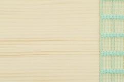 Rama zielony faborek na drewnianym stole Zdjęcie Royalty Free