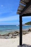 Ramada en la playa Imágenes de archivo libres de regalías