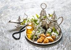ramadan的kareem eid穆巴拉克 伊斯兰教的假日装饰 图库摄影