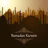Ramadan. Arabic mosque background. Islam vector illustration Stock Photo