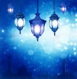 Ramadan  background with arabic lantern Royalty Free Stock Photos