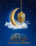 Ramadan Background avec la lanterne d'or Photographie stock libre de droits