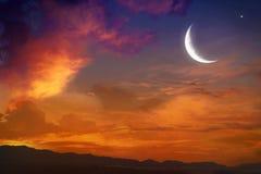 Ramadan background . Eid Mubarak background . Religion background Dramatic nature background . Light in dark sky . Light from sky . beautiful cloud . Religion royalty free stock image