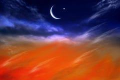 Ramadan background . Eid Mubarak background . Religion background Dramatic nature background . Light in dark sky . Light from sky . beautiful cloud . Religion stock image