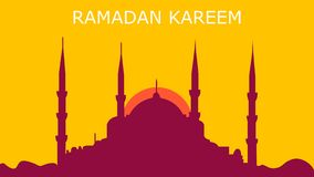 Ramadan background kareem with mosque vector illustration