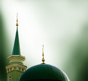 Ramadan background with mosque Stock Images