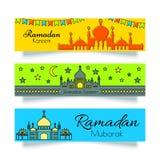 Ramadan Banners ou en-têtes réglés Image libre de droits
