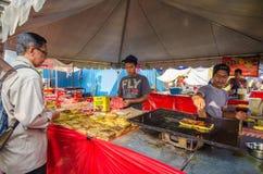 Ramadan Bazaar Kuala Lumpur. Kuala Lumpur,Malaysia - July 23, 2014:The food seller preparing Murtabak fried for their customers during Ramadan bazaar in Kuala Stock Photography