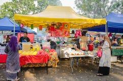 Ramadan Bazaar Kuala Lumpur. Kuala Lumpur,Malaysia - July 23, 2014: People can seen buying foods around the Ramadan Bazaar.It is established for Muslim to break Royalty Free Stock Image
