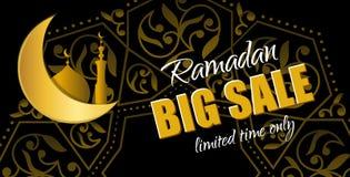 Ramadan Big Sale Insegna orizzontale di web di progettazione con bello Cr Immagine Stock Libera da Diritti