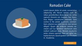 Ramadan Cake Banner Concept illustration stock