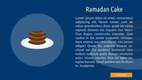 Ramadan Cake Banner Concept illustration libre de droits