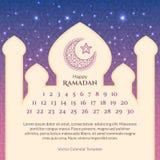 Ramadan Calendar Template Fotografia de Stock