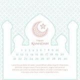 Ramadan Calendar Template Imagenes de archivo