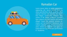 Ramadan Car Banner Concept illustration stock