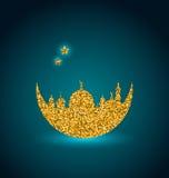 Ramadan Celebration Background, mes santo, mezquita, tarjeta árabe Imagenes de archivo