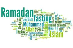 Ramadan. Concepts word cloud illustration. Word collage concept