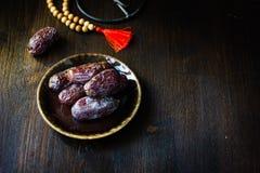 Ramadan dates for iftar opening Royalty Free Stock Photos