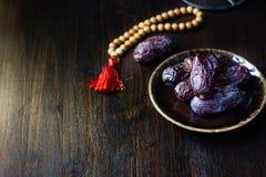 Ramadan dates for iftar opening Stock Photo